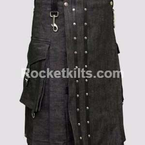 black denim kilt,mens denim kilt,everyday kilts,union kilts,work kilt, denim kilt, denim kilts, kilt for sale, great kilt
