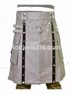 Grey Fashion kilt