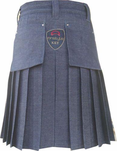 blue denim dress kilt