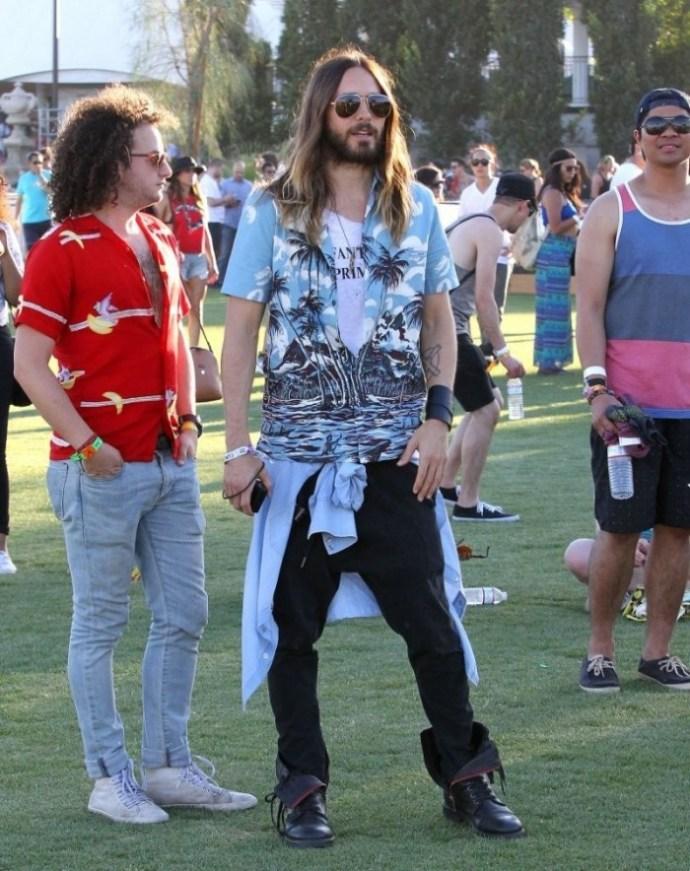 Jared Leto en Coachella 2014 en Prada SS14
