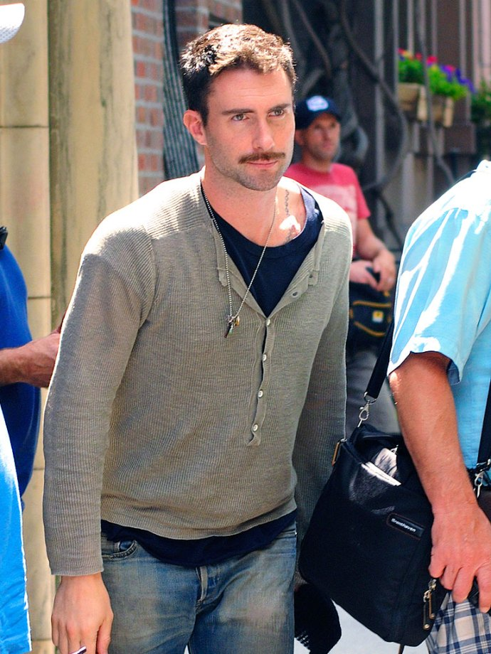 adam levine Movember Moustache