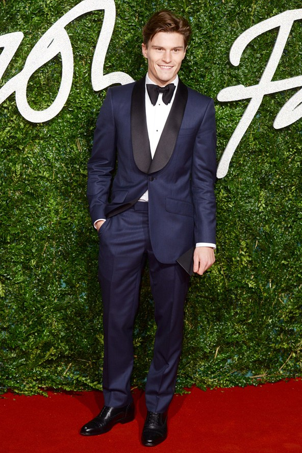 Oliver Cheshire British Fashion Awards 2014