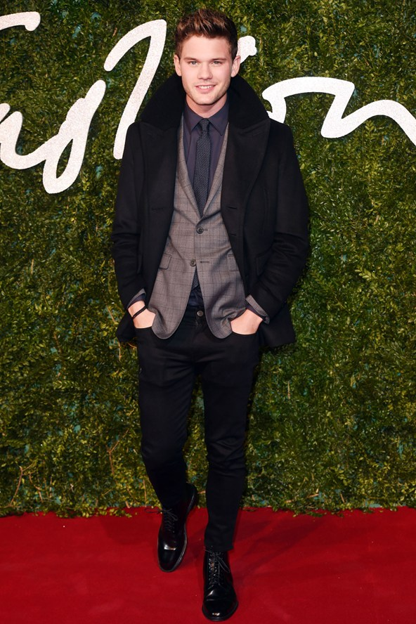 Jeremy Irvine British Fashion Awards 2014
