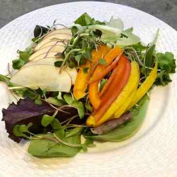 apple micro green salad