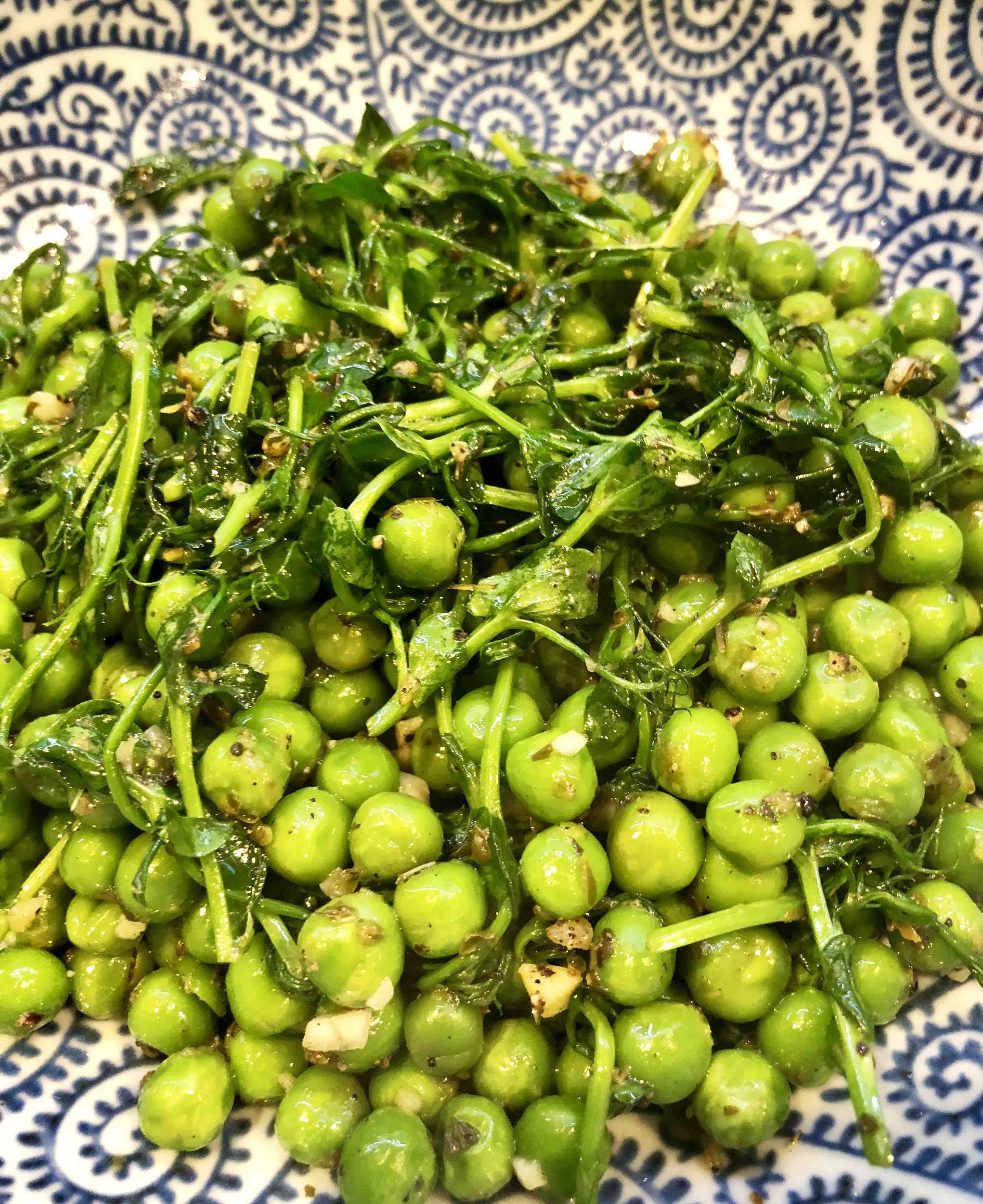 pea shoot saute