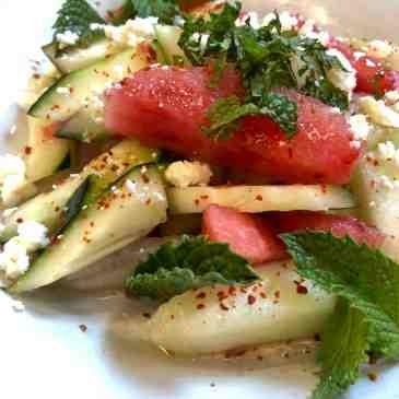 cucumber+melon salad/salsa