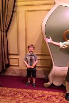 "This was a proud moment for me - Lucas was too scared to participate in Enchanted Tales with Belle during our first trip. This year, he proudly played the role of the ""salt shaker"""