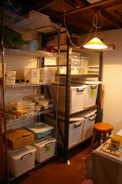 storage for glass