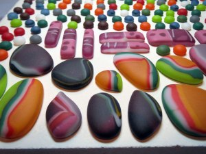 Tumbled Fused Glass Cabochons