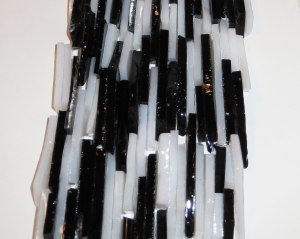 Black and white glass offcuts