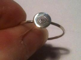Glass Cabochon Sterling Silver Rings