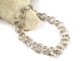 Double Link Silver Bracelet