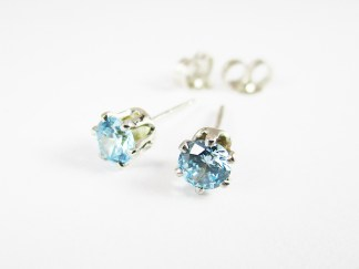 Topaz Blue Stud Earrings