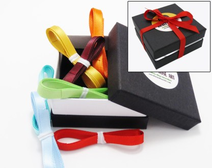 Box with ribbons