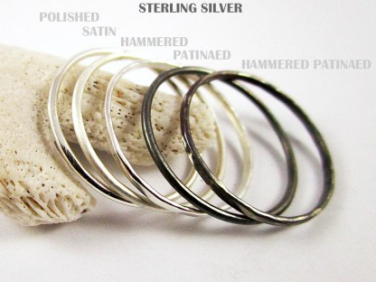 Silver Stacker Rings