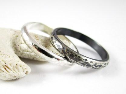 Half Round Sterling Silver Ring