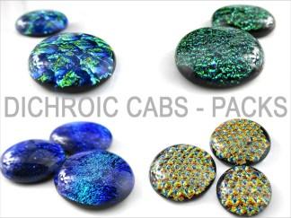 Dichroic Cabochons - Packs