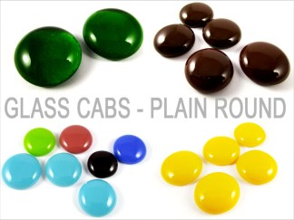 Glass Cabochons - Plain Round
