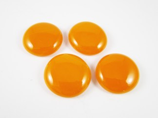 Bright Orange Cabochons