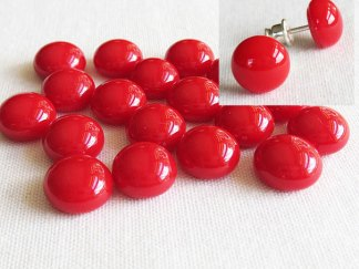 Red Cabochons