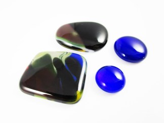 Blue Glass Cabochons
