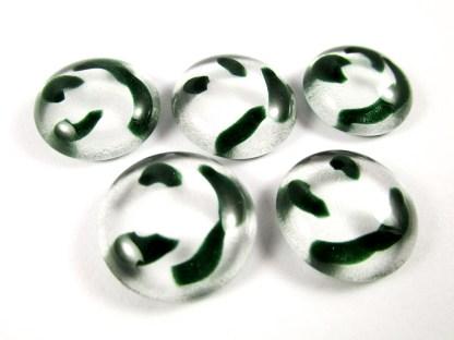 Green Swirl Cabochons