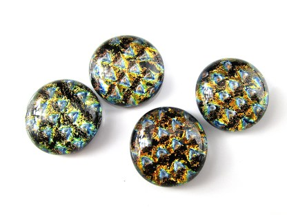 Copper Dichroic Cabochons