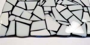 Making a Fused Glass Part Sheet – Black and White