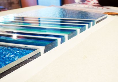 Layup of Fused Glass Platter