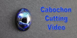 Oval Cabochon Cutting from Blue Green Jefanite