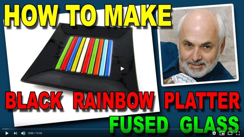 Rainbow Fused Glass Platter