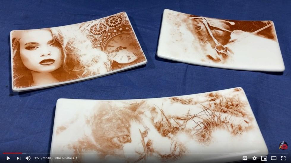 Sepia Decal Platter