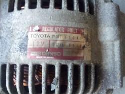Toyota alternator info plate