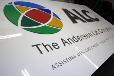 Anderson Lid Laser Cut sign