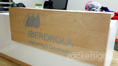 CNC Routed Aluminium signs