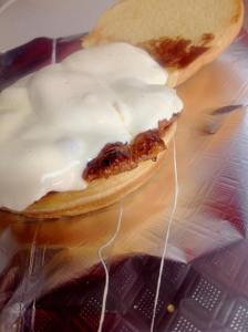Boar Sausage with Fresh Mozzarella and Caramelized Onion