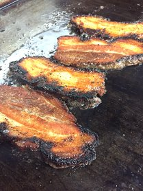 Pork Belly on the grill.