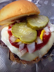 The Right Stuff: American Cheese, Ketchup, Mustard, Pickles