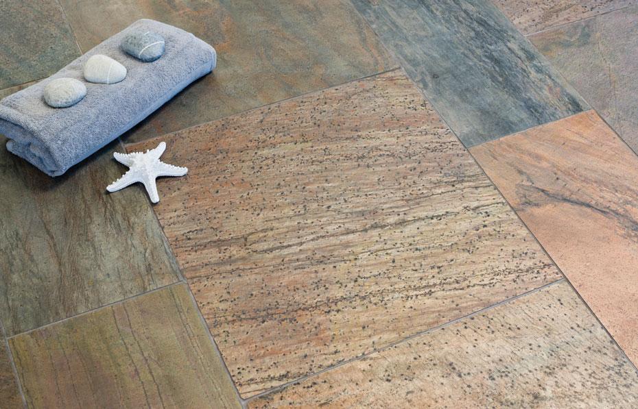copper honed slate from rockford stone