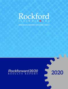 2020 Rockforward20/20 Results Report Cover - RAEDC Annual Report