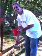 Day Of Caring 2012 Paint Fence