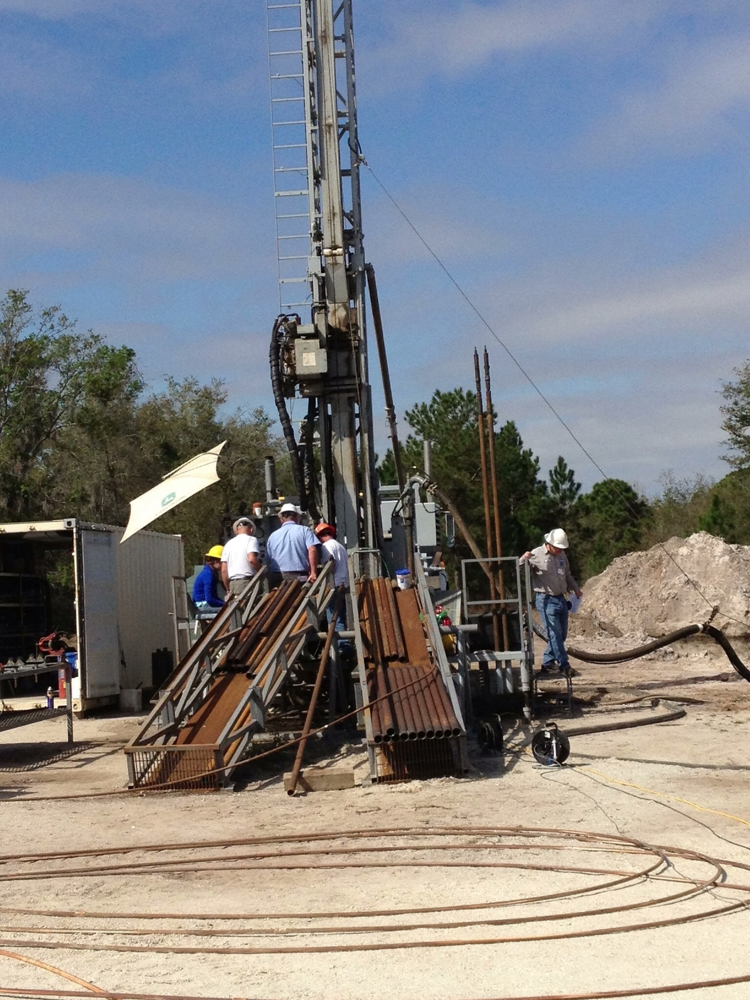 Drilling of wells, geological works for soil testing and diamond drilling of concrete 87