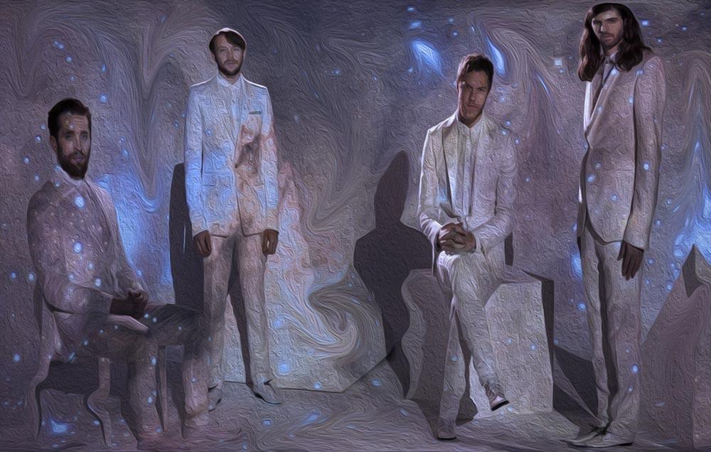 Участники группы Imagine Dragons (картина маслом)