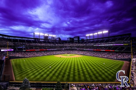 August 16, 2016 - The Colorado Rockies take on the Washington Nationals at Coors Field. (Photo by Kyle Cooper)