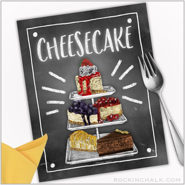 cheesecake sign