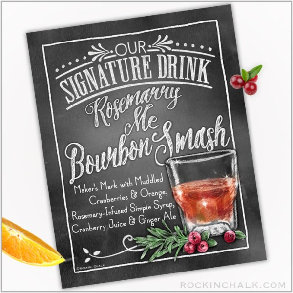 Rosemarry Me Bourbon Smash