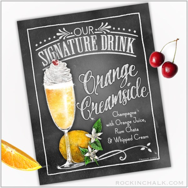 Orange Creamsicle Cocktail in Flute