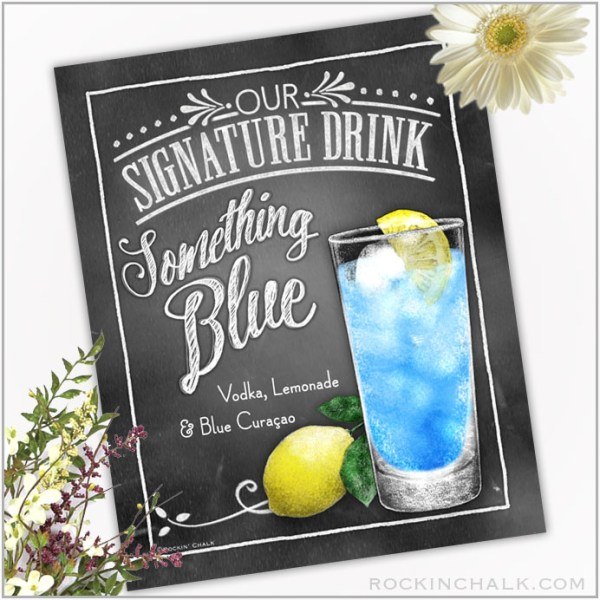 Something Blue Lemonade cocktail