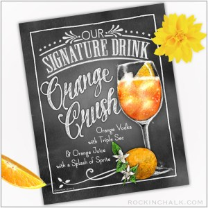 """8""""x10"""" Printable Cocktail Signs for Instant Download"""