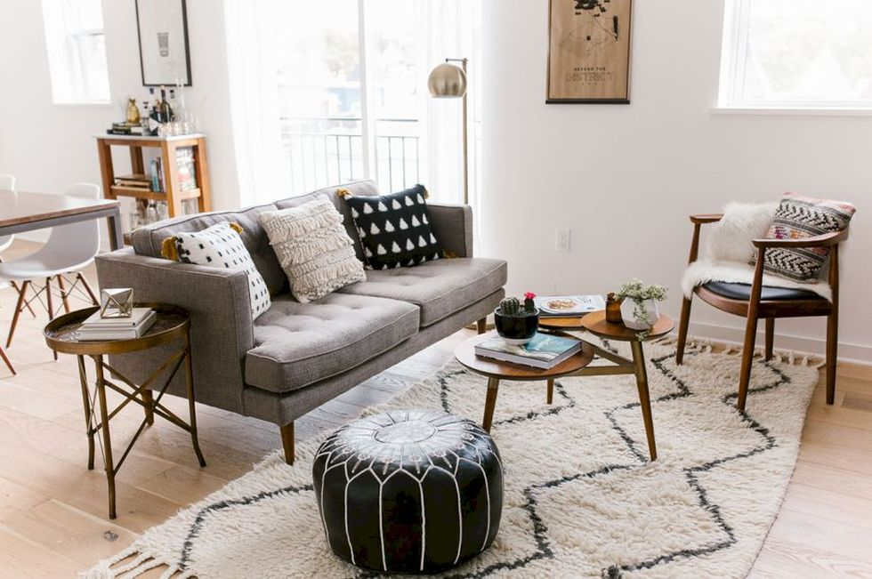 Furniture on budget for apartment living room 16